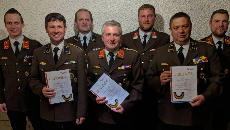 Verleihung von Ehrendienstgraden