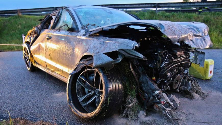 Verkehrsunfall mit anschließender Personensuche