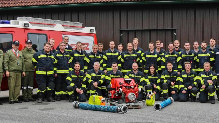 Branddienstleistungsprüfung erfolgreich bestanden