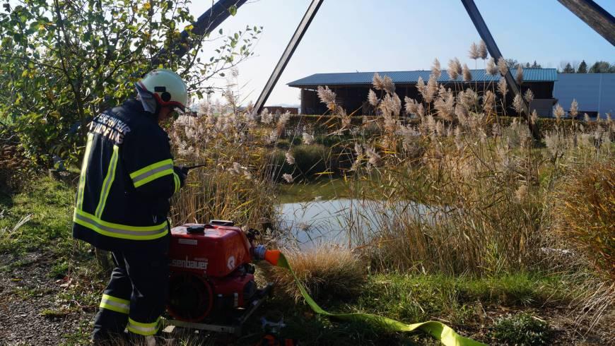 Herbstübung der 4 Andorfer Feuerwehren