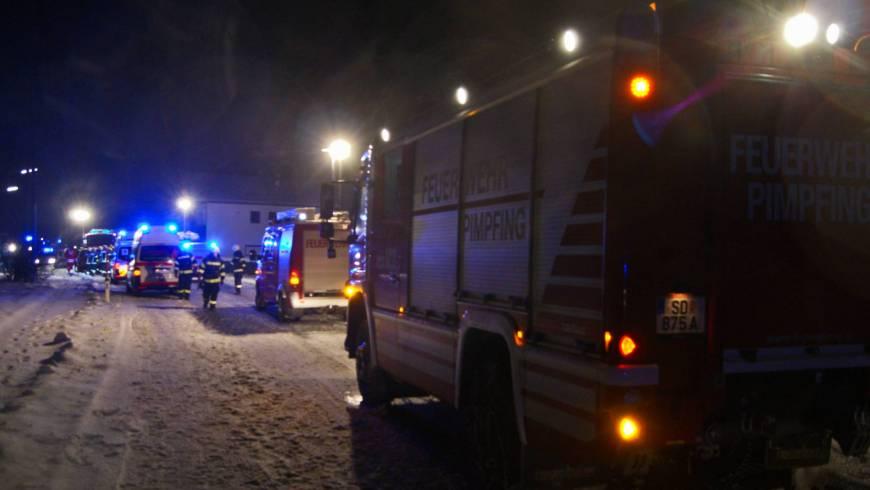 Schwerer Verkehrsunfall mit 6 Verletzten