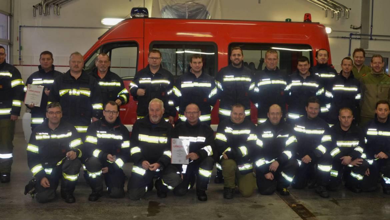Leistungsprüfung Branddienst in Silber