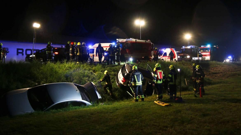 Schwerer Verkehrsunfall mit 7 Verletzten