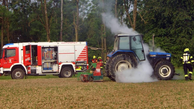 Traktorbrand in Humerleiten