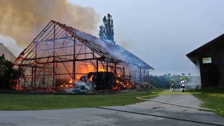 Scheunenbrand in Mayrhof