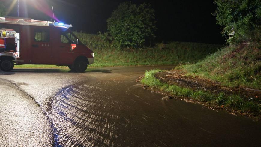 Überflutungseinsätze in Andorf