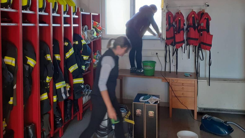 Tag sauberes Feuerwehrhaus